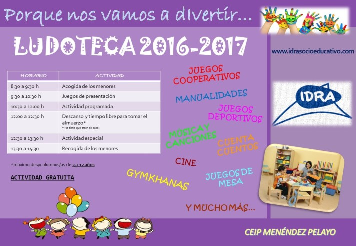 Cartel Ludoteca 2016-2017