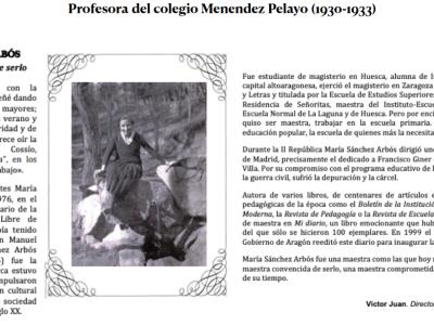 María Sánchez Arbós, profesora del Menéndez de 1930-1933