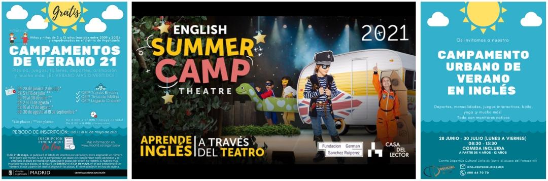 Campamentos de verano Arganzuela 2021